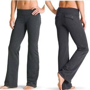Athleta Fusion fleece lined pants gray yoga hike